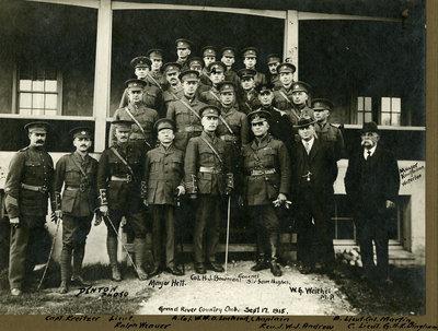 General Sir Sam Hughes and other dignitaries at Grand River Country Club