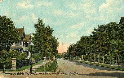 View of Ahrens Street from Queen Street, Berlin, Ontario