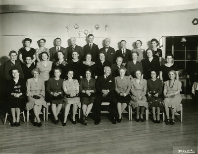 John Forsyth Shirt Company Twenty-Year Club, Christmas Party, 1945