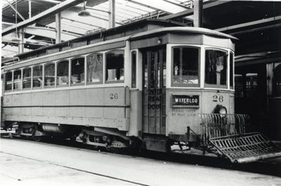 Kitchener Public Utilities Commission street car no. 20
