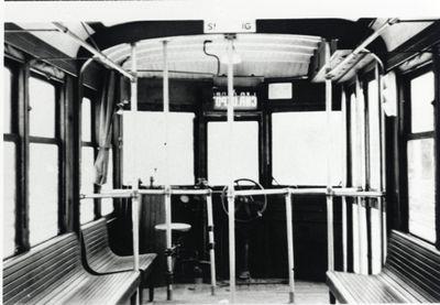 Interior of Kitchener-Waterloo street car no. 64