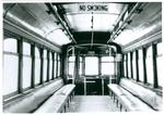 Interior of Kitchener-Waterloo street car no. 22
