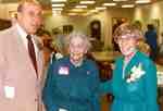 Mayor Dom Cardillo, Mrs. Clara Schmidt and Grace Schmidt at the opening of the Grace Schmidt Room of Local History