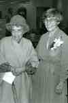 Dorothy Shoemaker and Grace Schmidt at the opening of the Grace Schmidt Room of Local History