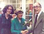Susan Hoffman, Grace Schmidt and Eric Carter at the opening of the Grace Schmidt Room