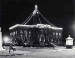 Kitchener City Hall decorated for the Christmas season