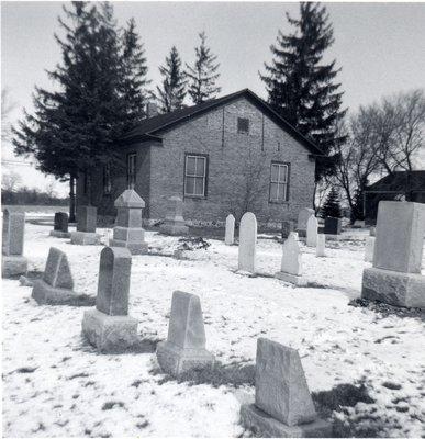 Bridgeport Free Church and cemetery