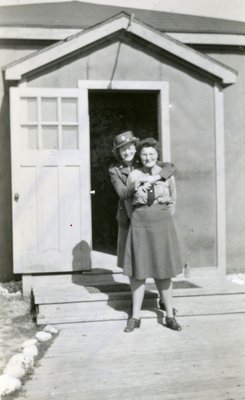 Ruth Auchenbach and unidentified woman, Canadian Women's Army Corps