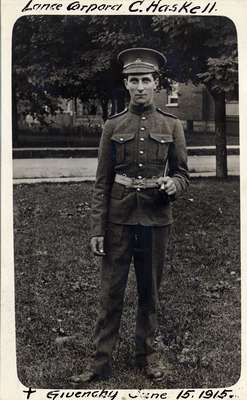 Lance Corporal C. Haskell