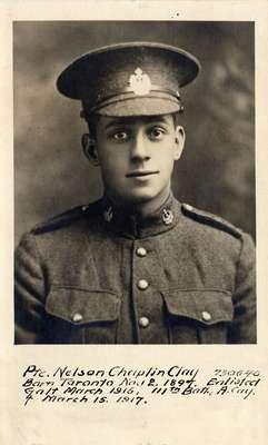 Private Nelson Chaplin Clay