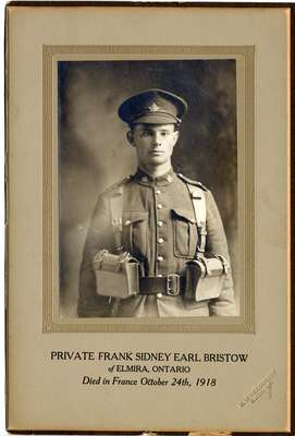 Private Frank Sidney Earl Bristow