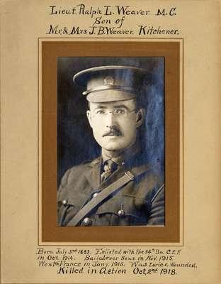 Lieutenant Ralph L. Weaver