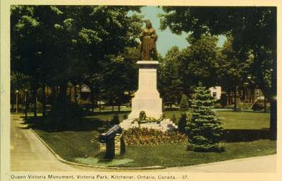 Queen Victoria Monument, Victoria Park, Kitchener, Ontario, Canada