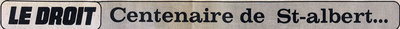 article du Droit le 8 Janvier 1979 à l'occasion du centenairede Saint-Isidore