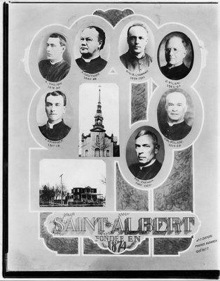 Photo de l'église de st-albert ont. et du presbytère