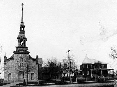 Les curés de la paroisse de st-albert de 1878  l'église et le presbytère.
