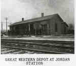 Railroad Station at Jordan Station.