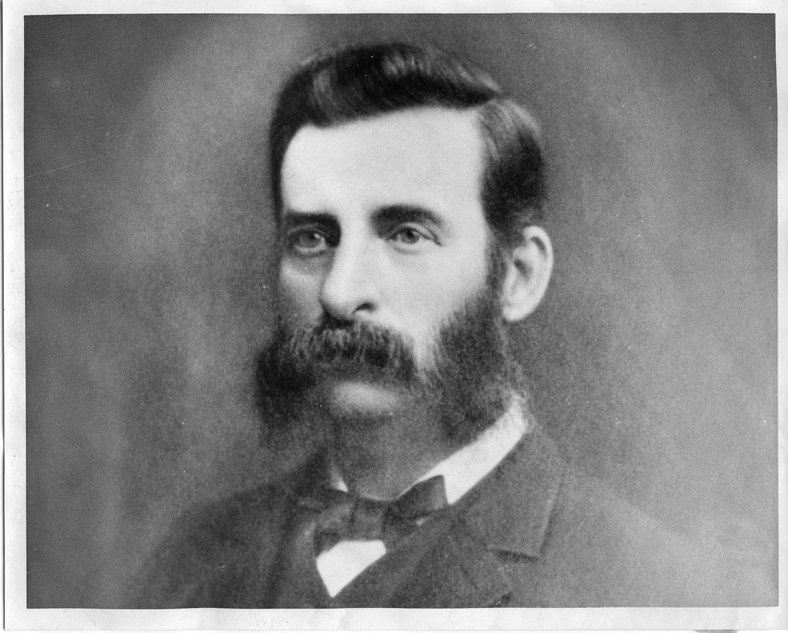 Potrait of Josiah Blackburn black and white