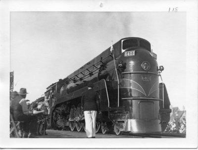 Royal Visit, 1939 - Pilot Train Arrives at Glencoe, Ontario