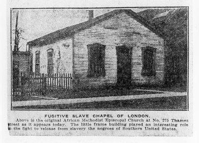 Fugitive Slave Chapel, London, Ontario