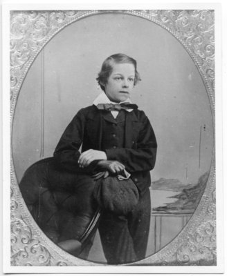 Portrait of John Michie, Junior, as a child, nephew of Judge William Elliot, London, Ontario