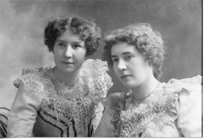 Portrait of Edith and Flora Line, London, Ontario