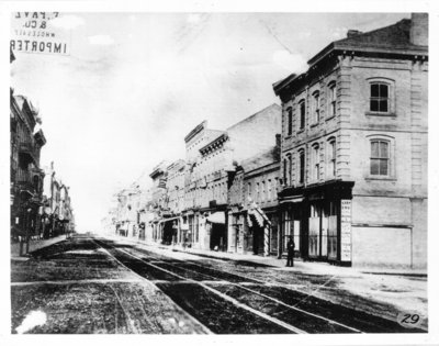 Dundas Street, looking west from Clarence Street, London, Ontario