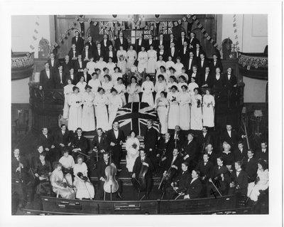 Combined Choir and Instrumental Ensemble at Dundas Street Centre (Methodist) United Church, London, Ontario