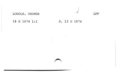 Loggle, George.