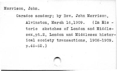 Morrison, John, Rev.