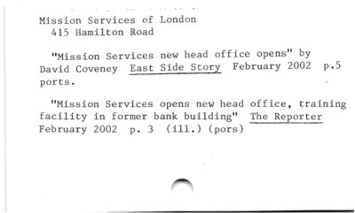 Mission Services of London