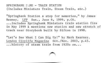 SPRINGBANK PLRK — TRAIN STATION