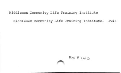 Middlesex Community Life Training Institute
