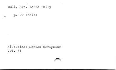 Bull, Mrs. Laura Emily.