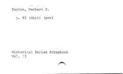 Easton, Herbert S.
