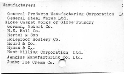 Manufacturers.