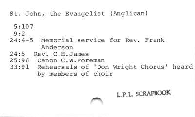 St. John, the Evangelist (Anglican)