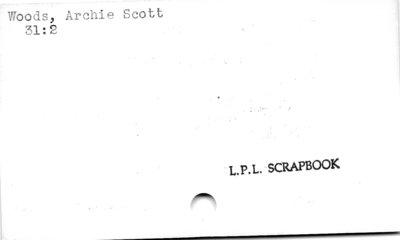 Woods, Archie Scott.