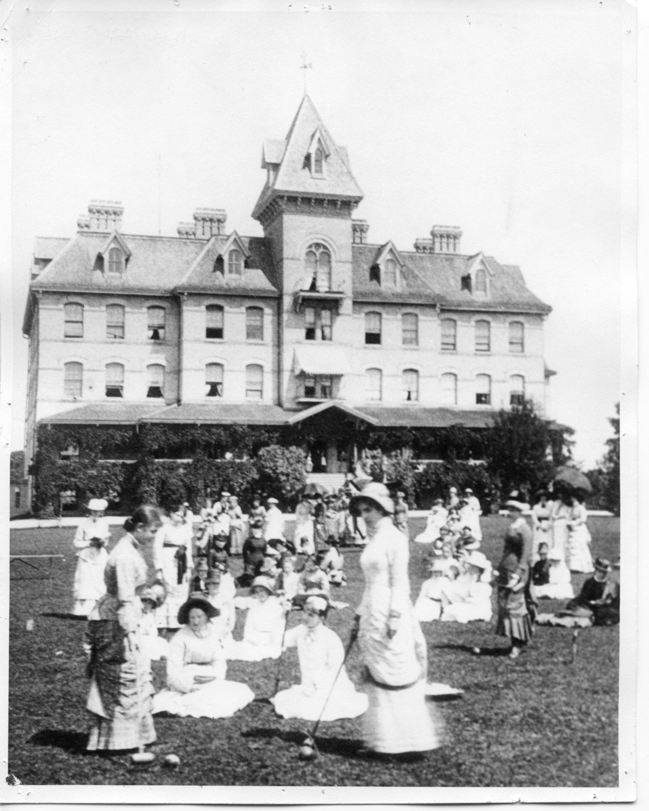 Hellmuth Ladies' College students play croquet, around 1895. Courtesy the London Public Library.