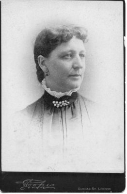 Portrait of Miss Harriet Priddis, London, Ontario