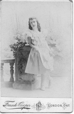 Portrait of May Mathewson, London, Ontario