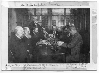 Group portrait of the Microscopical Society, London, Ontario