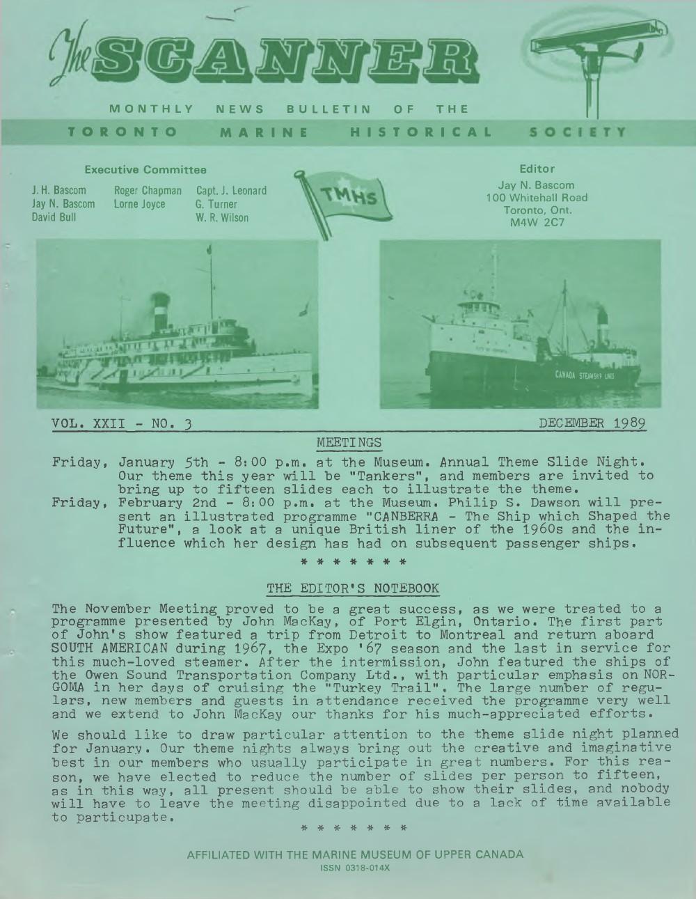 Scanner, v. 22, no. 3 (December 1989)