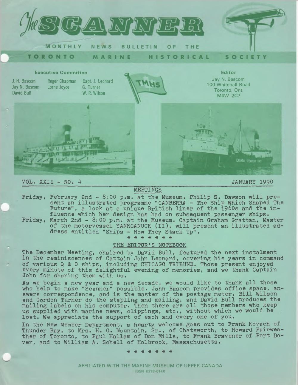 Scanner, v. 22, no. 4 (January 1990)