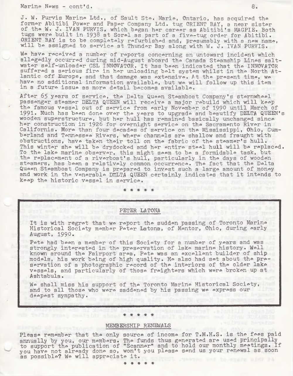 Scanner, v. 22, no. 9 (Mid-Summer 1990)
