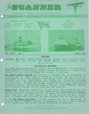 Scanner, v. 23, no. 7 (April 1991)