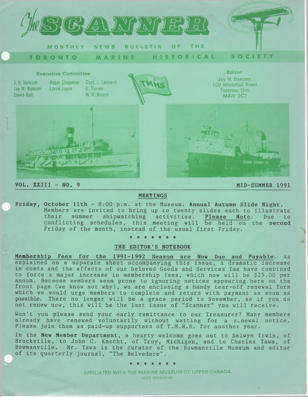 Scanner, v. 23, no. 9 (Mid-Summer 1991)