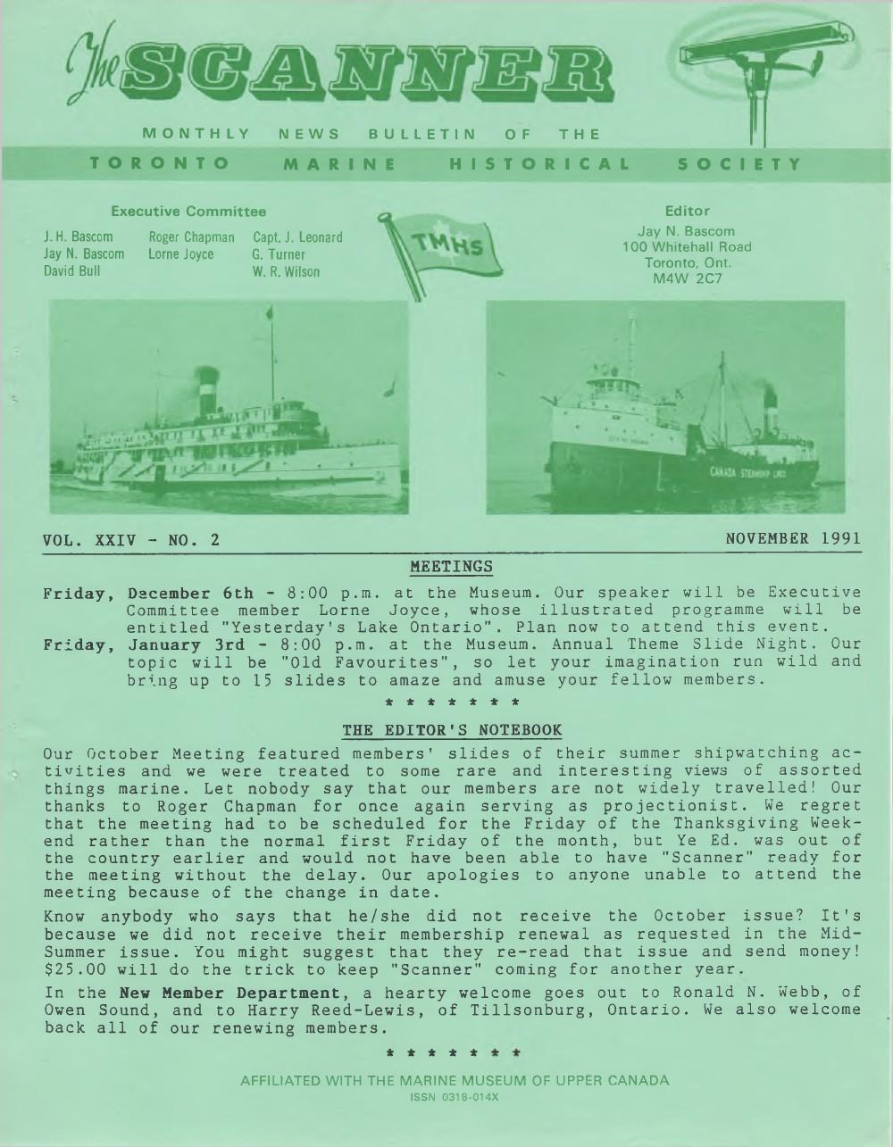 Scanner, v. 24, no. 2 (November 1991)
