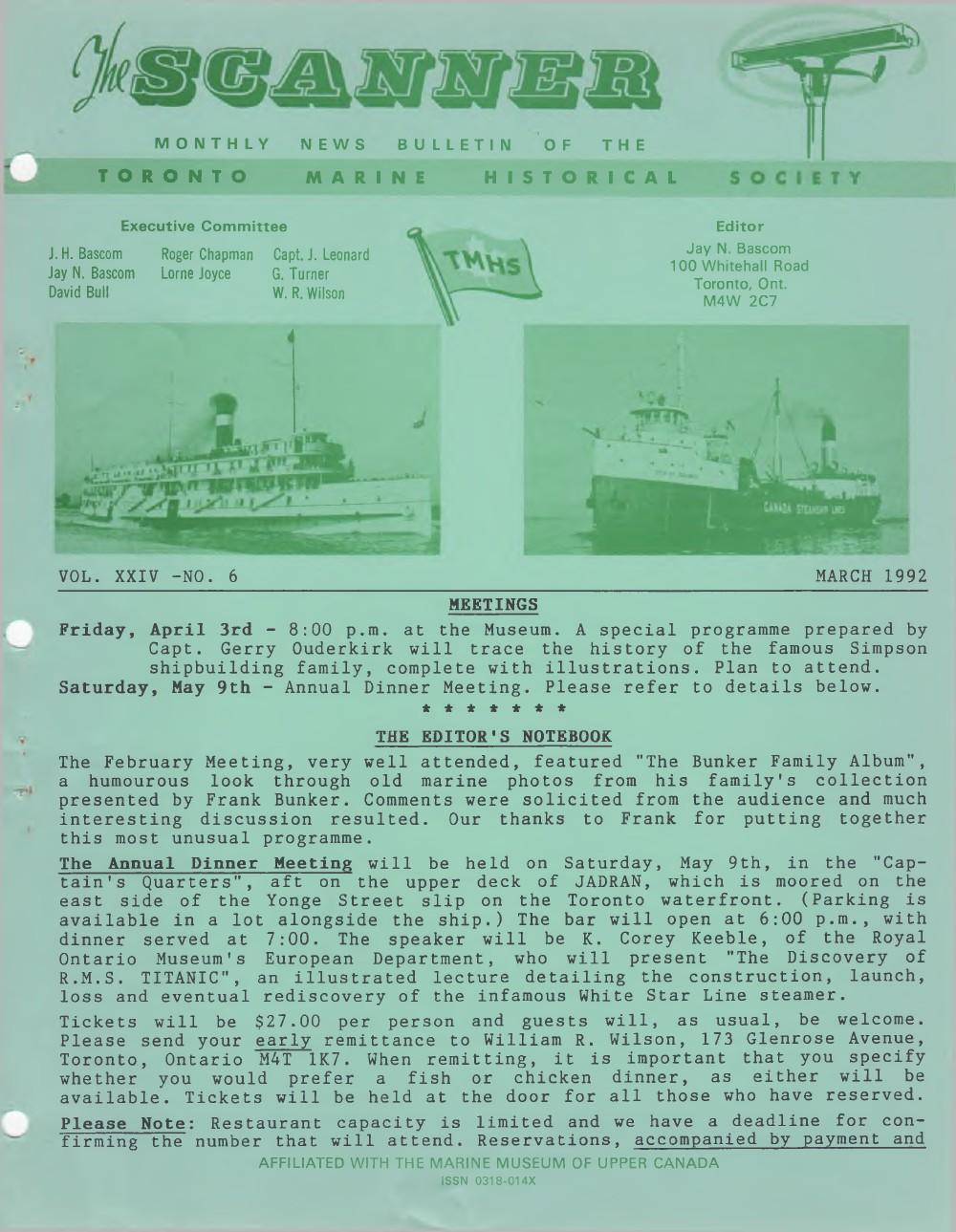Scanner, v. 24, no. 6 (March 1992)