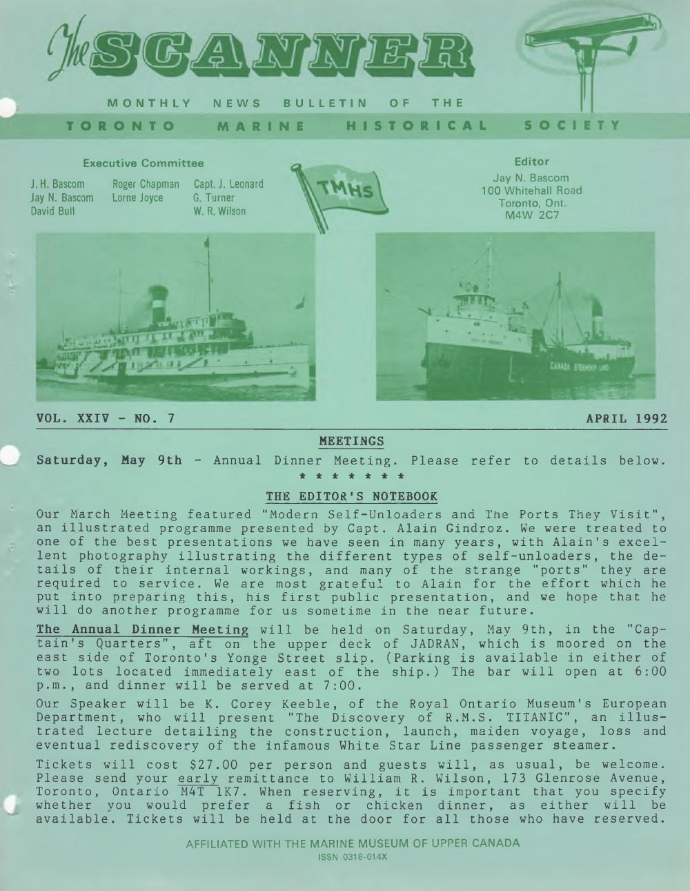 Scanner, v. 24, no. 7 (April 1992)